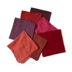 Deborah Rhodes Warm Colors Washed Linen Napkins (set of six )