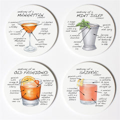 Dishique Whiskey Anatomy Coasters