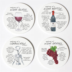 Dishique Wine Anatomy Coasters