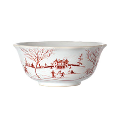 Juliska Country Estate Winter Frolic Ruby Ice Cream/Cereal Bowl
