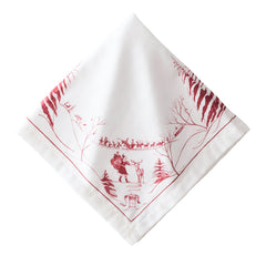 Juliska Country Estate Winter Frolic Ruby Napkin