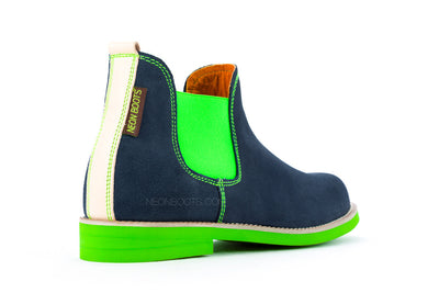 Blue - Fluorescent Green Elastic & Sole