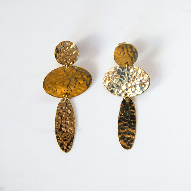 Brass Big drop earrings