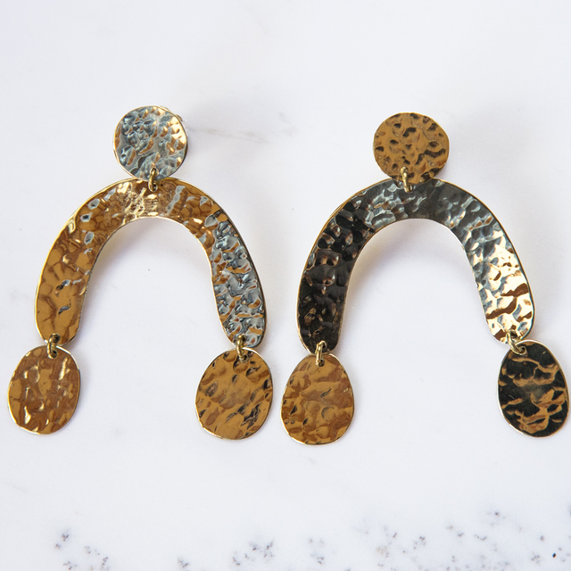Brass Hang out Earrings