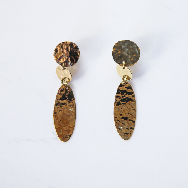 Brass Little Drop Earrings