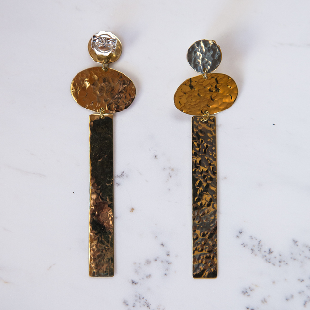 Brass Stand tall earrings