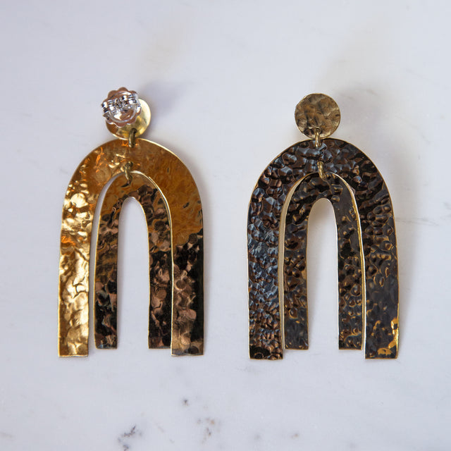 Brass Arch Way Earrings