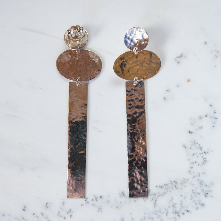 silver stand tall earrings