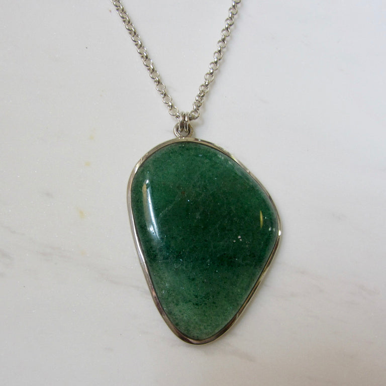T-Bar Clasp Necklace-Aventurine