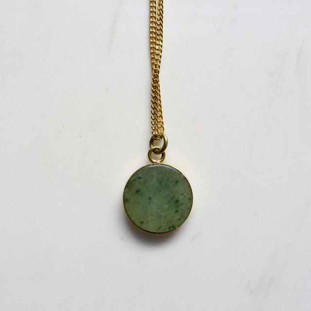 Small Medallion necklace-Aventurine