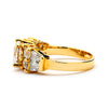 2-Ct CZ Engagement Ring with Side Stones - 14-kt Gold Filled
