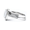 5-Ct Cushion Cut CZ Engagement and Wedding Band Set