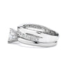 2-Ct CZ Engagement and Wedding Band Set