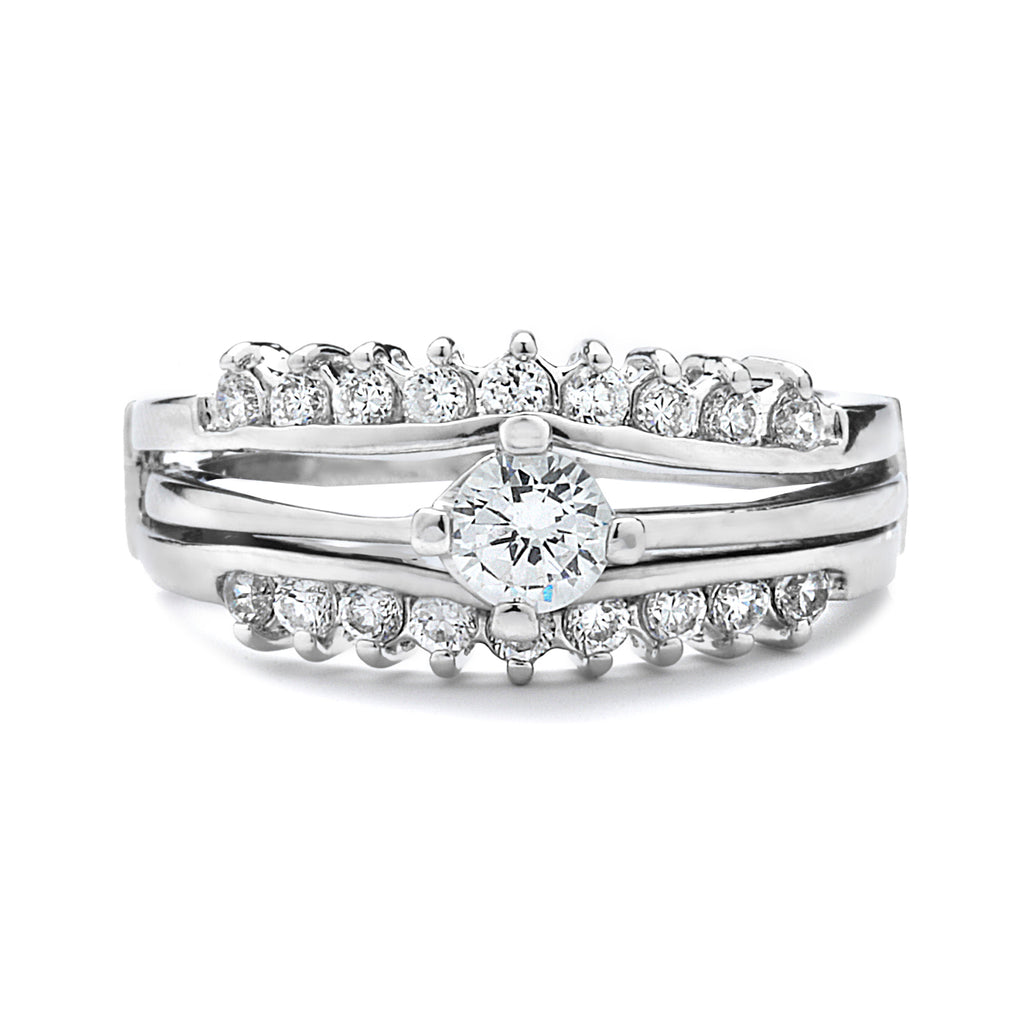 .75 Ct Engagement Ring and Wedding Band Set