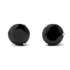 3 Prong Black Cubic Zirconia Stud Earrings