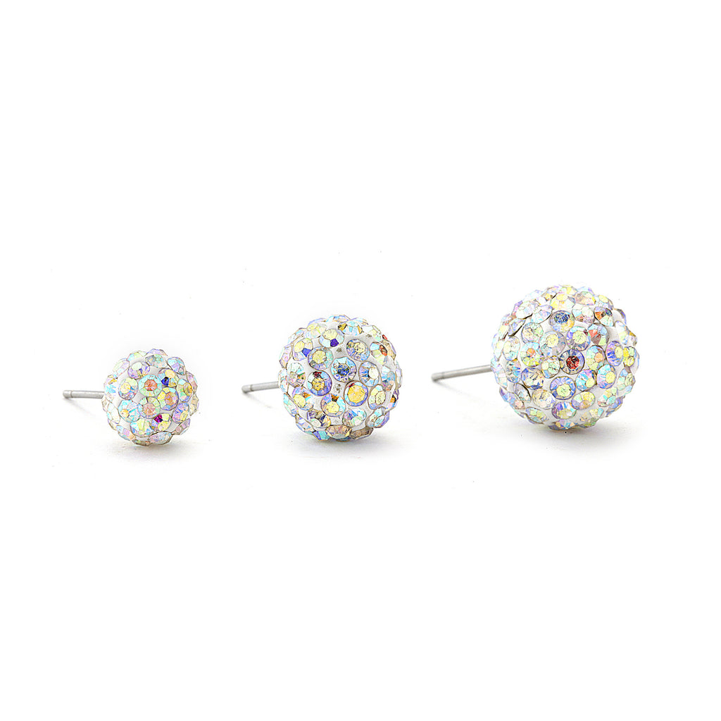 Disco Crystal Ball Earring - AB color