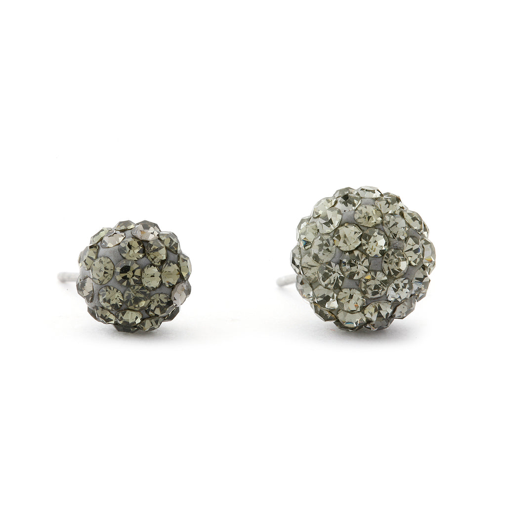 Disco Crystal Ball Earring - Olive