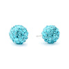 Disco Crystal Ball Earring - Aqua
