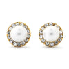 Pearl with Pave CZ Earrings - 14-kt Gold Filled