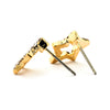 Pave CZ Hollow Star Earrings - 14-kt Gold Filled