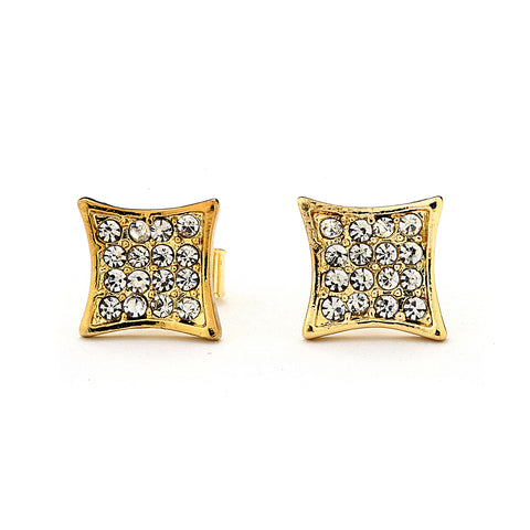 Pave CZ Shape Earrings 14-kt Gold Filled