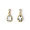 Pave CZ Tear Drop Earrings - 14K Gold Filled