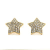 Pave CZ Star Earrings - 14K Gold Filled