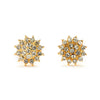 Pave CZ Sun Flower Earrings - 14K Gold Filled