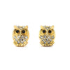 Owl Earrings with Pave CZ Accents 14-K Gold Filled
