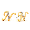 Initial Earrings with CZ Accent 14-K Gold Filled