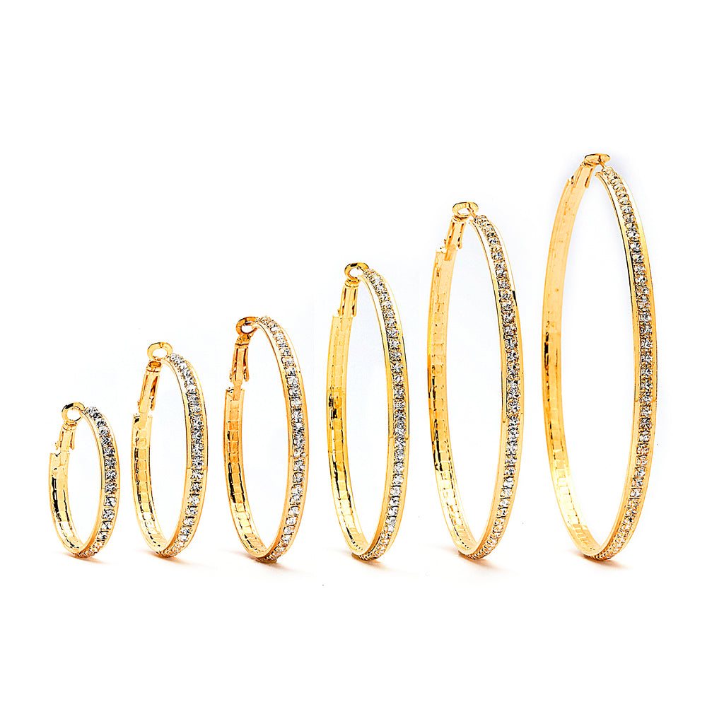 Premium Cubic Zirconia Hoop Earrings - 14K Gold Filled