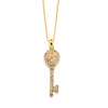 Designer Inspired Key Pendant Necklace with Premium CZ