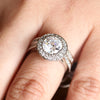 Round Brilliant Cut Premium CZ Engagement Ring Set