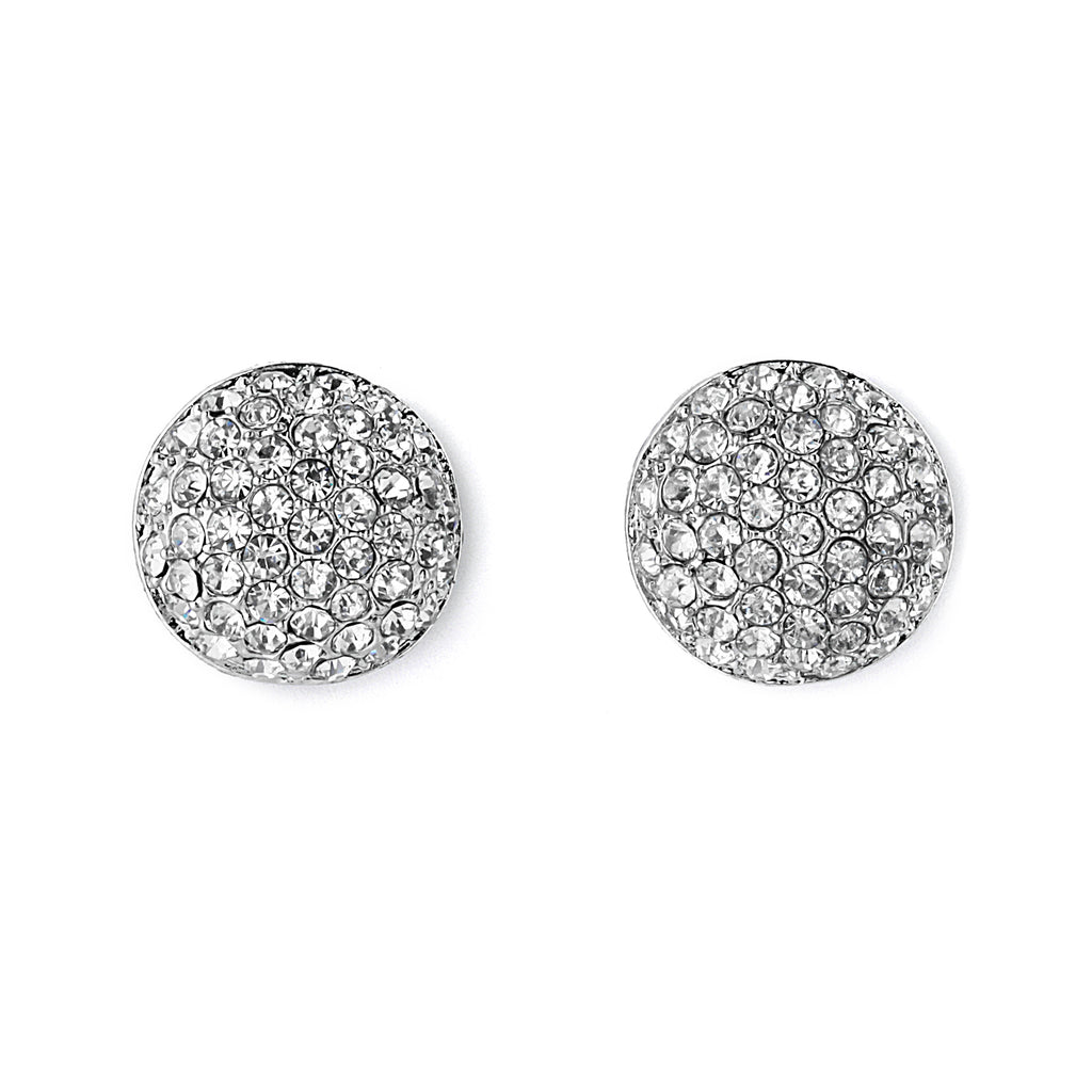 Pave CZ Dome Earrings