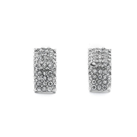 Pave CZ Rectangle Earrings