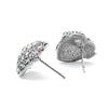 Pave CZ Heart Earrings with AB Crystal