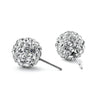 Polished Bead CZ Ball Earring