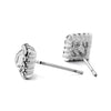 Square CZ Stud Earrings