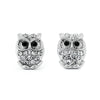 Owl Earrings with Pave