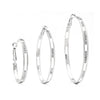 Premium Cubic Zirconia Interval Hoop Earrings