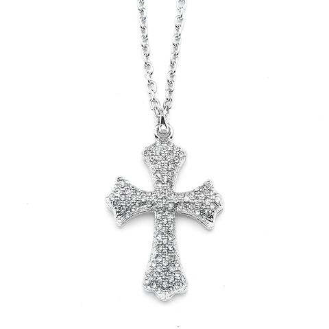 Cross Pendant Necklace with Premium CZ