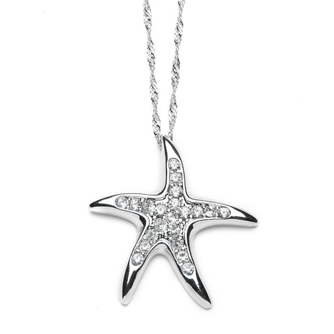 Starfish Pendant Necklace with Premium CZ