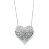 Medium Heart Pendant Necklace with Premium CZ