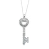 Designer Inspired Heart Key Pendant Necklace with Premium CZ