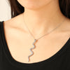 Snake Pendant Necklace with Premium CZ