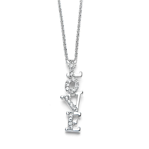 Love Pendant Necklace with Premium CZ