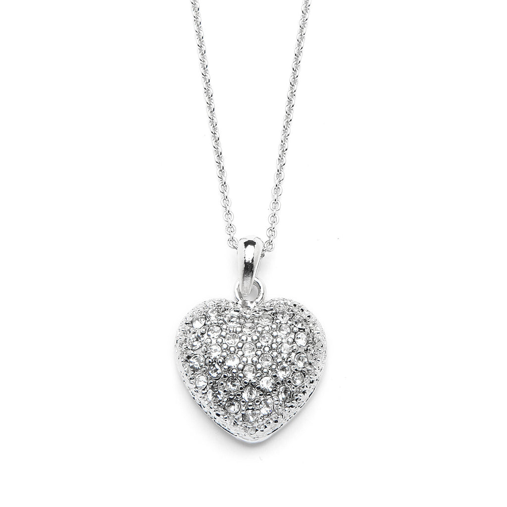Heart Pendant Necklace with Premium CZ