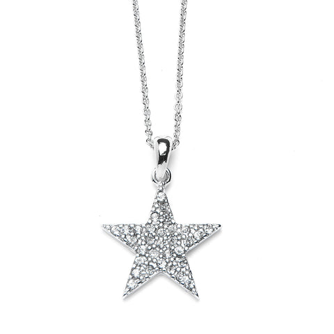 Star Pendant Necklace with Premium CZ