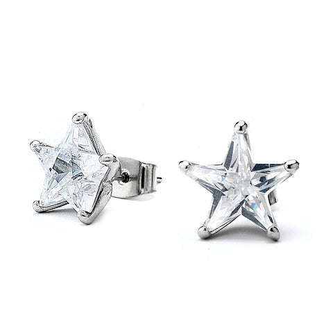 Star Shaped Grade AAAAA CZ Stud Earrings