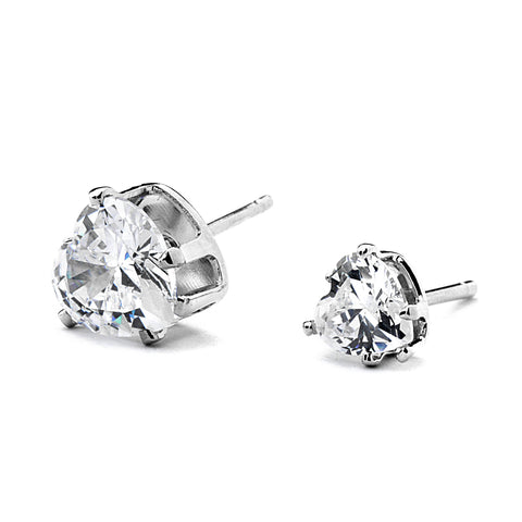 Mini Heart CZ Stud Earring